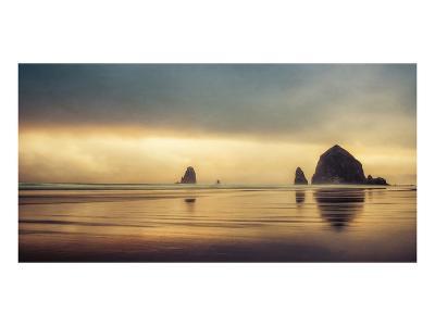 Schwartz - Haystack Sunset-Don Schwartz-Art Print