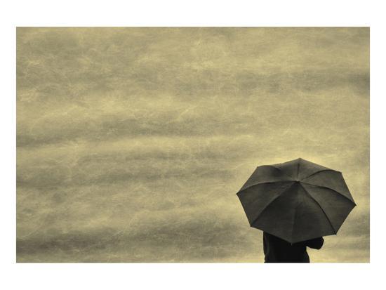 Schwartz - Little Red Umbrella-Don Schwartz-Premium Giclee Print