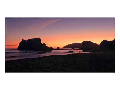 Schwartz - Oregon Coast Silhouette-Don Schwartz-Art Print