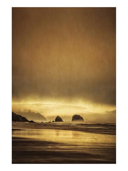 Schwartz - Sea Stacks at Sunset-Don Schwartz-Premium Giclee Print