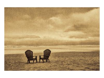 Schwartz - Two Chairs on the Sand-Don Schwartz-Art Print