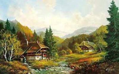 Schwarzwaldhaus-Helmut Glassl-Art Print