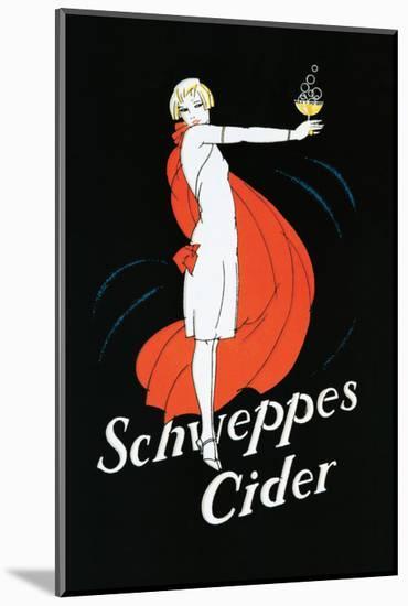 Schweppes Cider--Mounted Premium Giclee Print