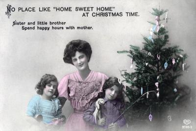 No Place Like Home Sweet Home at Christmas Time, Greetings Card, C1900-1919