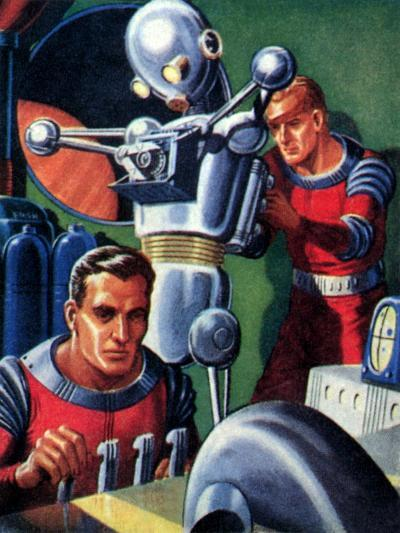 Sci Fi - Astronauts and Robot, 1953--Giclee Print