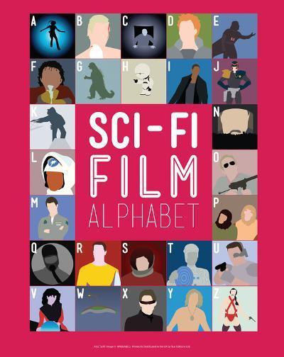 Sci-Fi Film Alphabet - A to Z-Stephen Wildish-Giclee Print