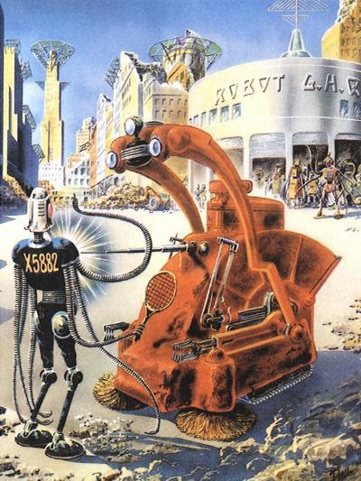 Sci Fi - Futuristic Robots, 1953-Frank R^ Paul-Giclee Print
