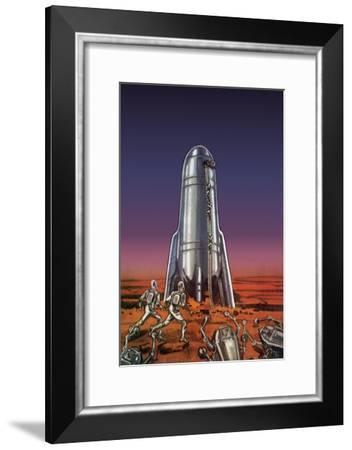 Sci Fi - Martian Aliens, 1938--Framed Giclee Print