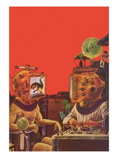 Sci Fi - Projection Helmets, 1929-Frank R^ Paul-Giclee Print