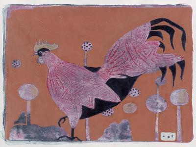 Sci-Fi Purple Rooster 6-Maria Pietri Lalor-Giclee Print