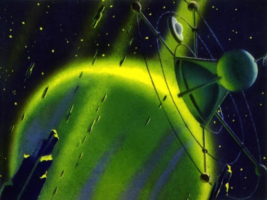 Sci Fi - Satellite in Space, 1950--Giclee Print