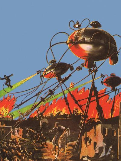Sci Fi - War of the Worlds, 1927-Frank R^ Paul-Giclee Print