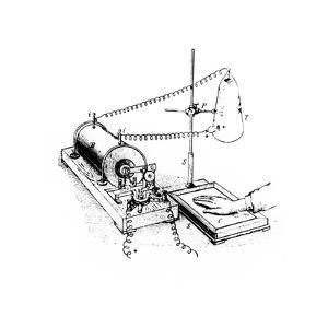 Art of Roentgen's X-ray Apparatus for Imaging Hand by Science Photo Library