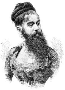 Bearded Lady, 19th Century by Science Photo Library