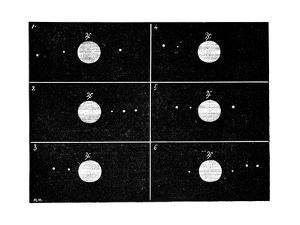 Galileo's Jovian Moon Observations, 1610 by Science Photo Library