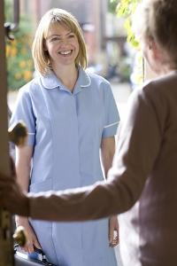 Nurse on a Home Visit by Science Photo Library