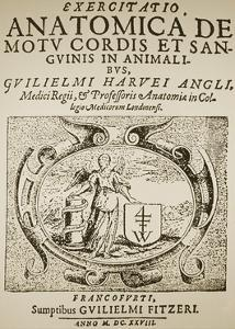 Title Page of Harvey's De Motu Cordis by Science Photo Library