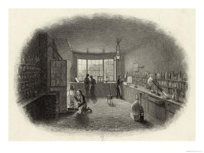 Scientists at Work in a Laboratory--Giclee Print