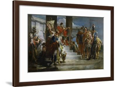 Scipio Africanus Freeing Massiva-Giambattista Tiepolo-Framed Giclee Print