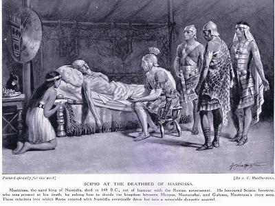 Scipio at the Deathbed of Masinissa-A.C. Weatherstone-Giclee Print