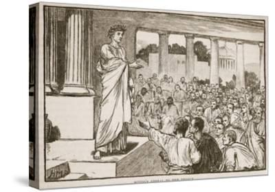 Scipio's Appeal to the People (Litho)-English-Stretched Canvas Print