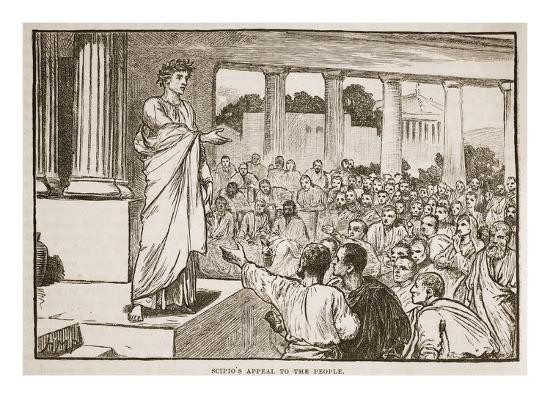 Scipio's Appeal to the People (Litho)-English-Giclee Print