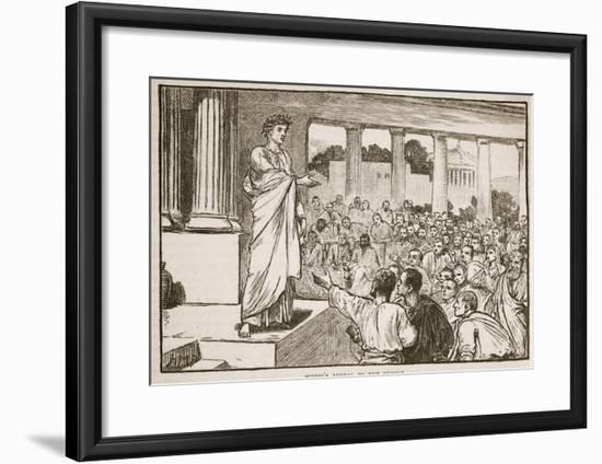 Scipio's Appeal to the People (Litho)-English-Framed Giclee Print