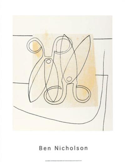 Scissors, c.1968-Ben Nicholson-Serigraph