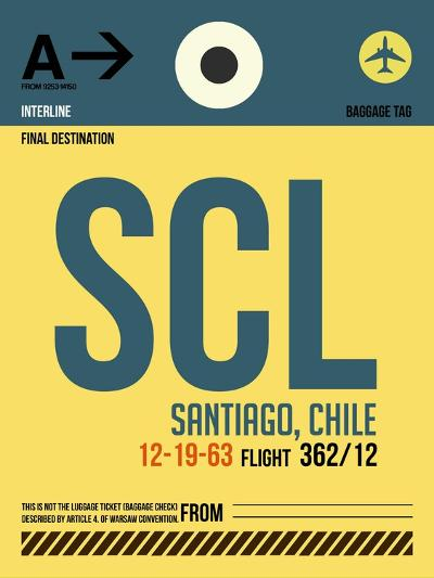 SCL Santiago Luggage Tag II-NaxArt-Art Print