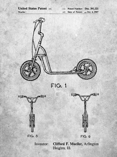 Scooter Patent Art-Cole Borders-Art Print