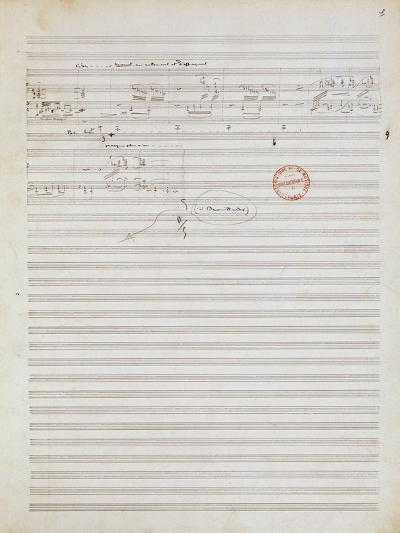 Score for Brouillards, Prelude 1 by Claude Debussy--Giclee Print