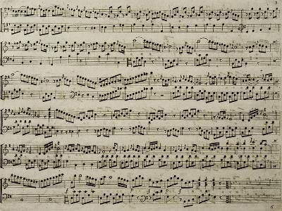 Score for Six Sonatas for Harpsichord, Opus 4-Carl Philipp Emanuel Bach-Giclee Print