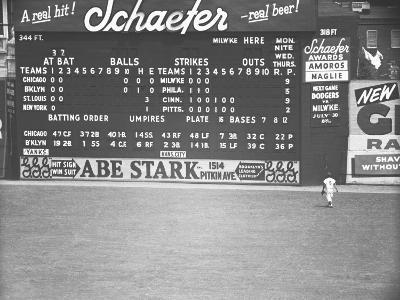 Scoreboard at Baseball Field-George Marks-Photographic Print