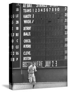 Scoreboard at Griffith Stadium During Game