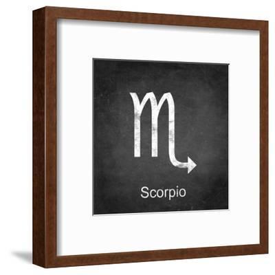 Scorpio - Black-Veruca Salt-Framed Art Print