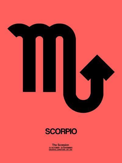 Scorpio Zodiac Sign Black-NaxArt-Art Print