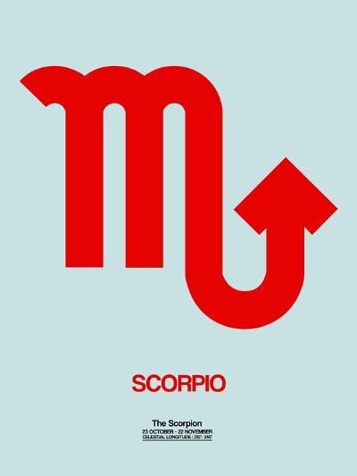 Scorpio Zodiac Sign Red-NaxArt-Art Print