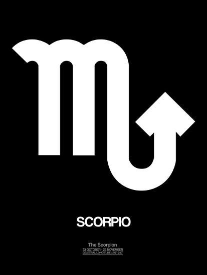 Scorpio Zodiac Sign White-NaxArt-Art Print