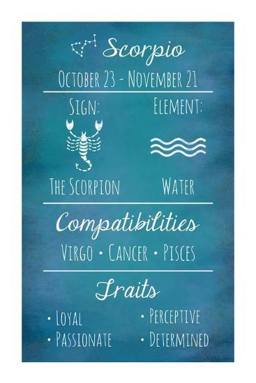 Scorpio Zodiac Sign-Veruca Salt-Art Print