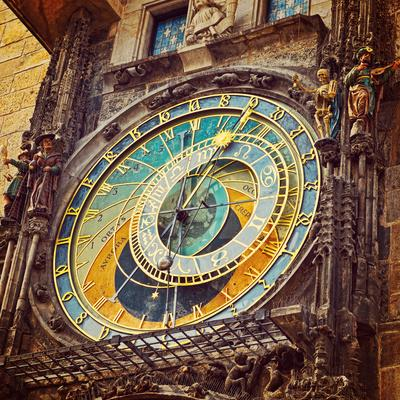 Prague Astronomical Clock . Instagram Filter Effect