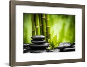 Zen Basalt Stones and Bamboo by scorpp