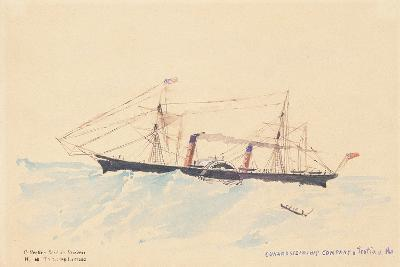 Scotia', a Cunard Steamship, C.1879-80-Henri de Toulouse-Lautrec-Giclee Print