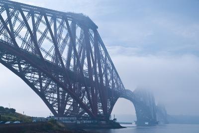 Scotland, Edinburgh, Forth Bridge, Fog-Thomas Ebelt-Photographic Print