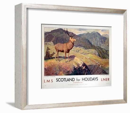 Scotland for Holidays--Framed Art Print