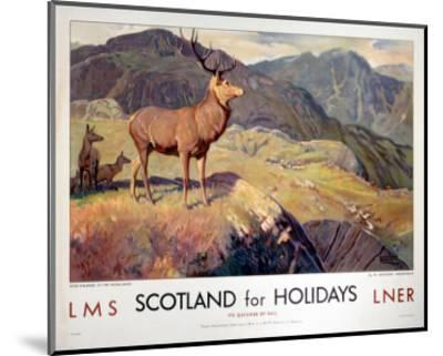 Scotland for Holidays--Mounted Art Print