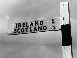 Scotland Ireland Sign