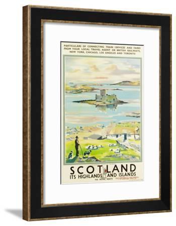 Scotland, Kishmul Castle Isle of Barra, Poster Advertising British Railways, 1952--Framed Giclee Print