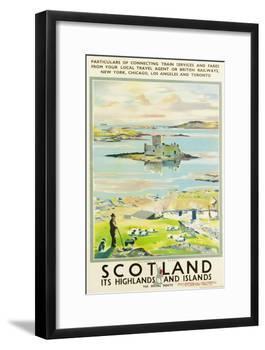Scotland, Kishmul Castle Isle of Barra, Poster Advertising British Railways, 1952-null-Framed Giclee Print