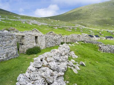Scotland, St Kilda Islands, Hirta Island, Abandoned Settlement-Martin Zwick-Photographic Print
