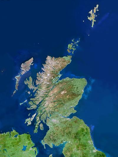 Scotland, UK, Satellite Image-PLANETOBSERVER-Photographic Print